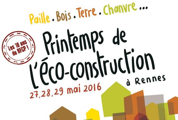 affiche printemps de l'éco-construction à Rennes