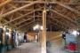 L'intérieur du hangar de la maison Feuillette