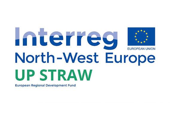 Logo du programme européen Interreg UP Straw pour l'Europe du nord ouest